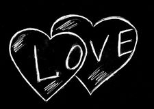 Влюбленность и 2 сердца Стоковые Изображения RF