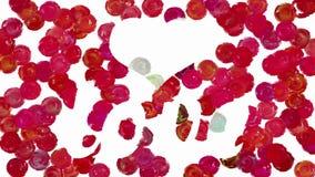Влюбленность и сердце на оживленной предпосылке точек иллюстрация штока