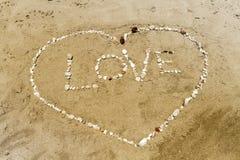 Влюбленность и сердце Стоковое Изображение