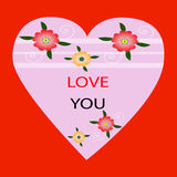влюбленность карточки вы Стоковое Изображение RF