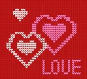 Влюбленность карточки Knit Стоковая Фотография RF