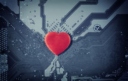Влюбленность компьютера стоковое изображение