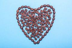 влюбленность кофе i Сердце кофе Проблемы сердца от кофе Стоковые Фотографии RF