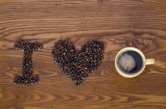 влюбленность кофе i Стоковые Фото