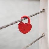 Влюбленность красного замка сердца Romance Стоковая Фотография RF