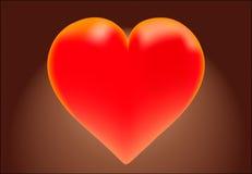 Влюбленность красного цвета сердца Стоковая Фотография