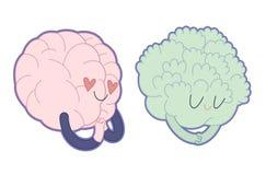 Влюбленность к брокколи, собранию мозга Стоковая Фотография