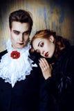 Влюбленность к вампиру стоковое изображение rf