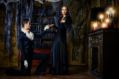 Влюбленность между вампирами стоковые фото