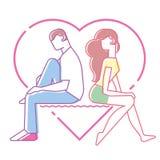 Влюбленность между человеком и женщиной Стоковое Изображение RF