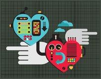Влюбленность механика. иллюстрация штока