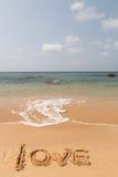 Влюбленность на пляже стоковые фотографии rf