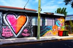 Влюбленность на стене Стоковое Изображение RF
