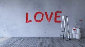 Влюбленность на стене Стоковые Изображения