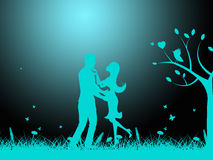 Влюбленность ночи показывает сострадательный парня и сострадание Стоковое Изображение