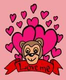 Влюбленность обезьяны бесплатная иллюстрация