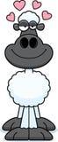 Влюбленность овец шаржа Стоковые Фото