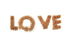 Влюбленность от алфавита хлеба Стоковая Фотография RF
