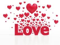 Влюбленность от сердец иллюстрация вектора