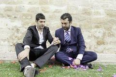 Влюбленность пар гомосексуалиста Стоковые Фото