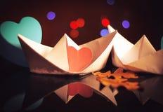 Влюбленность пересекает океаны Стоковое Изображение RF