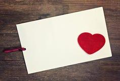 Влюбленность поздравительной открытки Стоковое Изображение