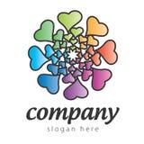 Сердца логоса Стоковые Фото