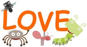Влюбленность произношений по буквам насекомых Стоковые Изображения RF