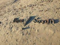 Влюбленность пляжа стороны Антальи Manavgat Стоковая Фотография RF