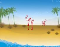 Влюбленность пляжа Стоковая Фотография