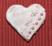 Влюбленность сердец печений Стоковое Изображение