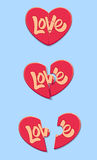 Влюбленность сердца головоломки Стоковые Фото