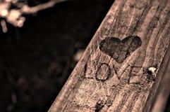 Влюбленность, сердца и поручни Стоковые Изображения