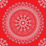 Влюбленность сердца снежинки повторяя красный цвет картины безшовный Стоковые Изображения RF