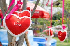 Влюбленность сердца для валентинки Стоковые Фотографии RF