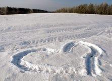 Влюбленность, снег, зима Стоковое Изображение RF
