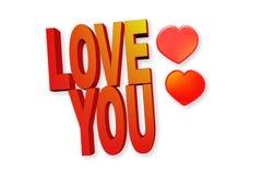 Влюбленность слова вы на белизне Стоковая Фотография