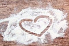 Влюбленность слова на таблице Стоковое Фото