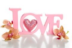 Влюбленность слова стоковые изображения