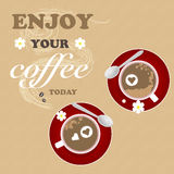 Влюбленность текстуры предпосылки цветка кофе романтичная Стоковое Изображение RF