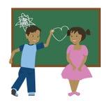 Влюбленность школы Стоковые Изображения RF