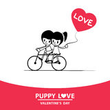 Влюбленность щенка Стоковые Изображения RF