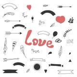 Влюбленность элементов дизайна Стоковые Изображения