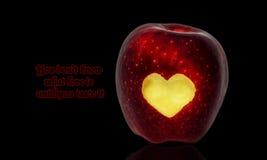 Влюбленность Яблоко стоковое фото rf