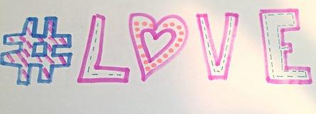 Влюбленность Hashtag Стоковая Фотография RF