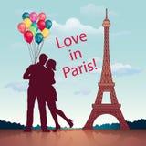 влюбленность paris Стоковое фото RF