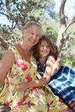 влюбленность s бабушки стоковые фото