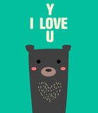Влюбленность u медведя Стоковое Фото