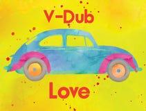 Влюбленность V-даба Стоковая Фотография