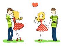 Влюбленныеся парень и девушка Стоковые Изображения